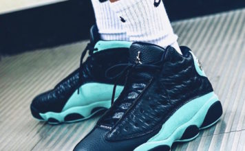 Air Jordan 13 Island Green 414571-030 On Feet