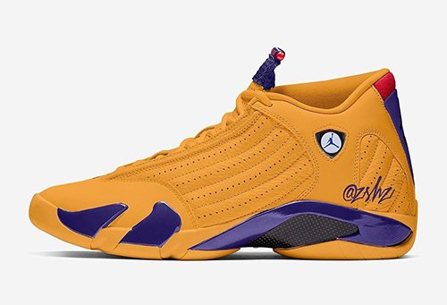 Air Jordan 14 University Gold Court Purple Varsity Red Royal Release Date