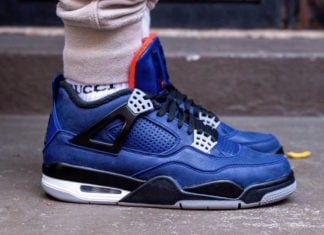Air Jordan 4 Winter Loyal Blue CQ9597-401 On Feet