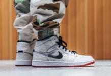 CLOT Air Jordan 1 Mid Fearless CU2804-100 On Feet