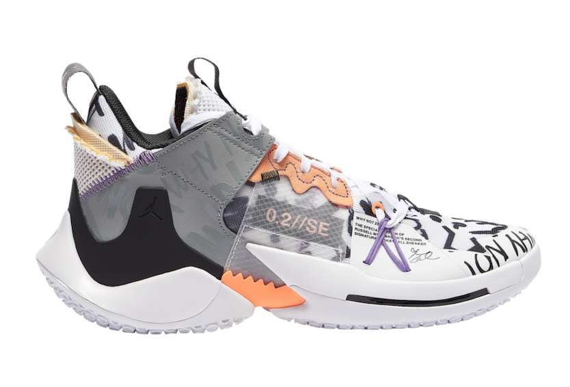 Jordan Why Not Zer0.2 SE White Orange Pulse Black Particle Grey Release Date
