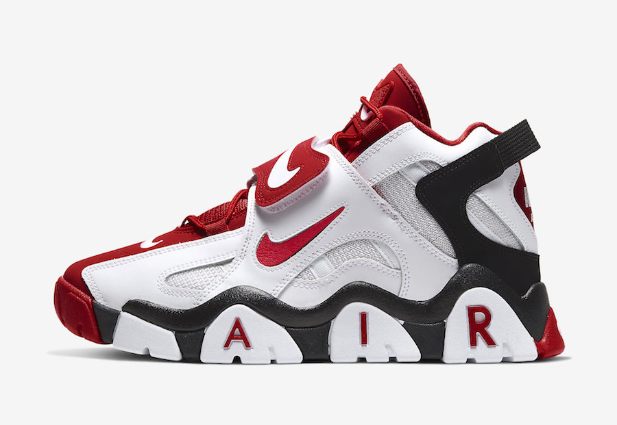 Nike Air Barrage Mid White Red AT7847-102 Release Date Info