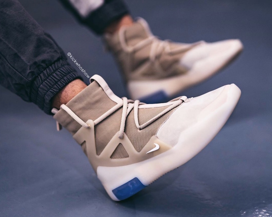 Nike Air Fear of God 1 Oatmeal AR4237-900 On Feet