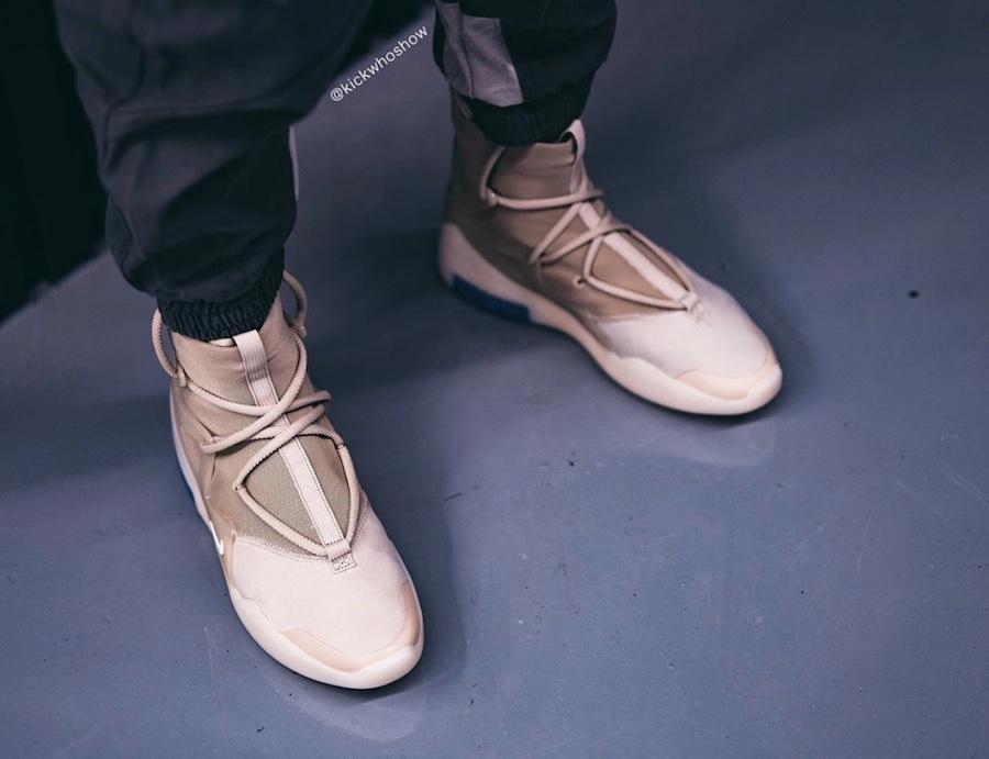 Nike Air Fear of God 1 Oatmeal AR4237-900 On Feet