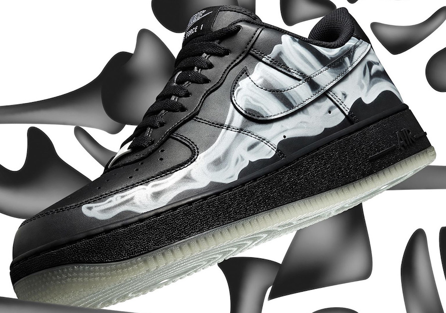 Nike Air Force 1 Black Skeleton Singles Day Release Date Info