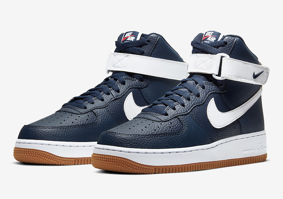 Nike Air Force 1 High Obsidian Gum AT7653-400 Release Date Info