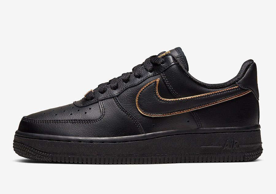 Nike Air Force 1 Low Black Gold AO2132-005