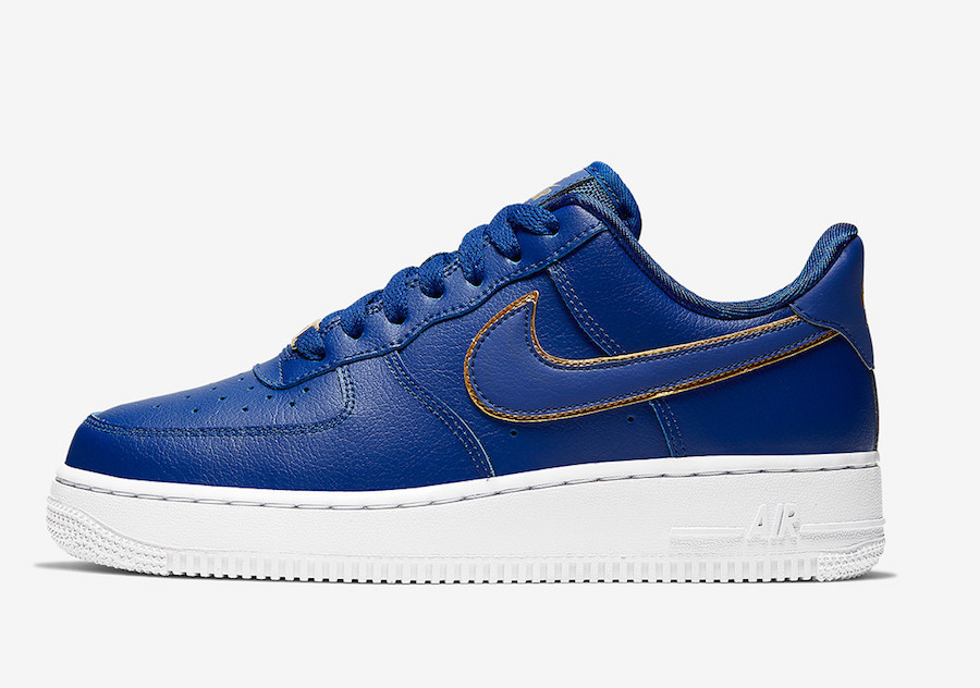 Nike Air Force 1 Low Blue Gold AO2132-401