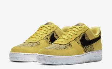 Nike Air Force 1 Low Yellow Snakeskin BQ4424-700 Release Date Info