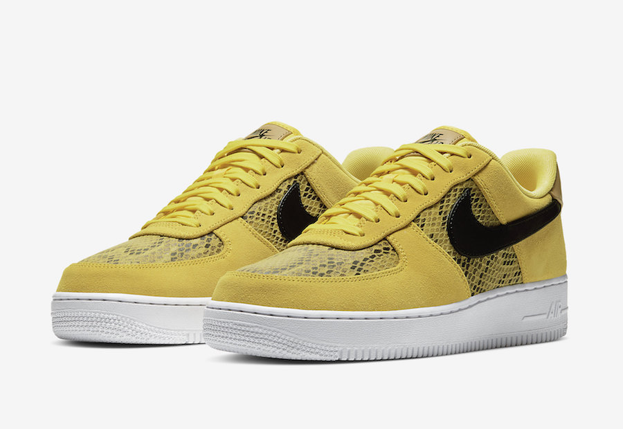 Nike Air Force 1 Low Yellow Snakeskin BQ4424-700 Release Date Info