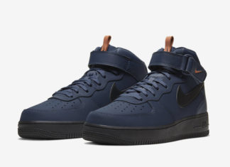 Nike Air Force 1 Mid Obsidian Dusty Peach BQ4592-400 Release Date Info