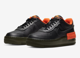 Nike Air Force 1 Shadow Black Orange CQ3317-001 Release Date Info