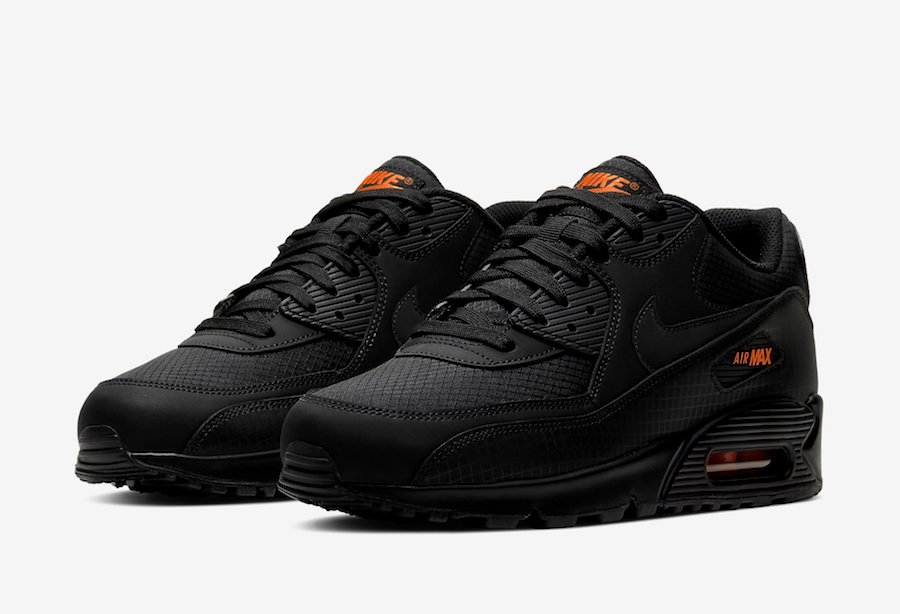 Nike Air Max 90 Black Orange CT2533 001 Release Date Info