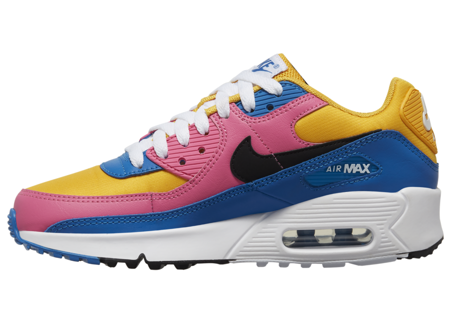 Nike Air Max 90 GS Gold Pink Blue CD6864-700 Release Date Info