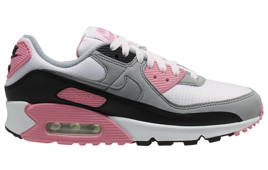 Nike Air Max 90 OG White Pink Grey Black CD0490-102 Release Date Info