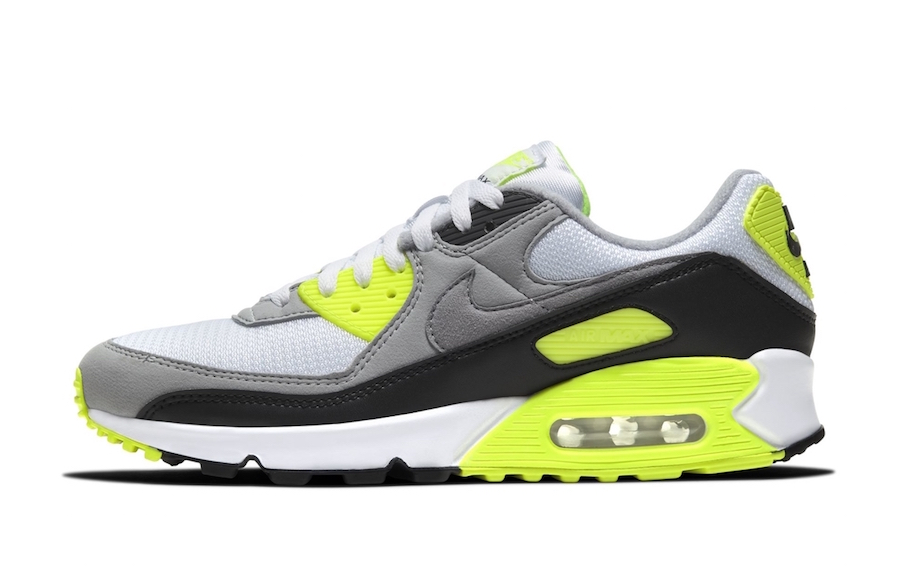 Nike Air Max 90 White Particle Grey Black Volt Release Date Info
