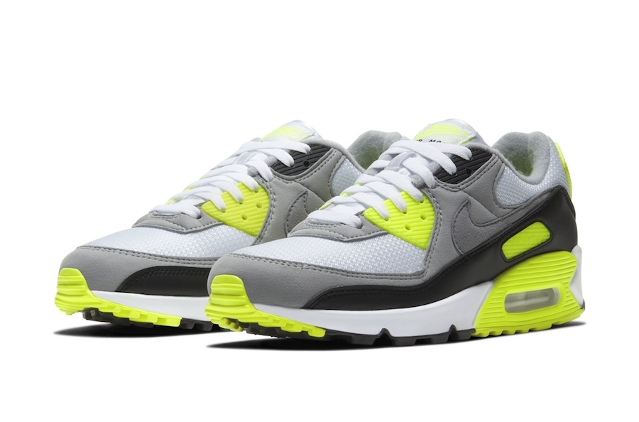 Nike Air Max 90 White Particle Grey Black Volt Release Date Info | SneakerFiles