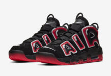 Nike Air More Uptempo Black Laser Crimson CJ6129-001 Release Date