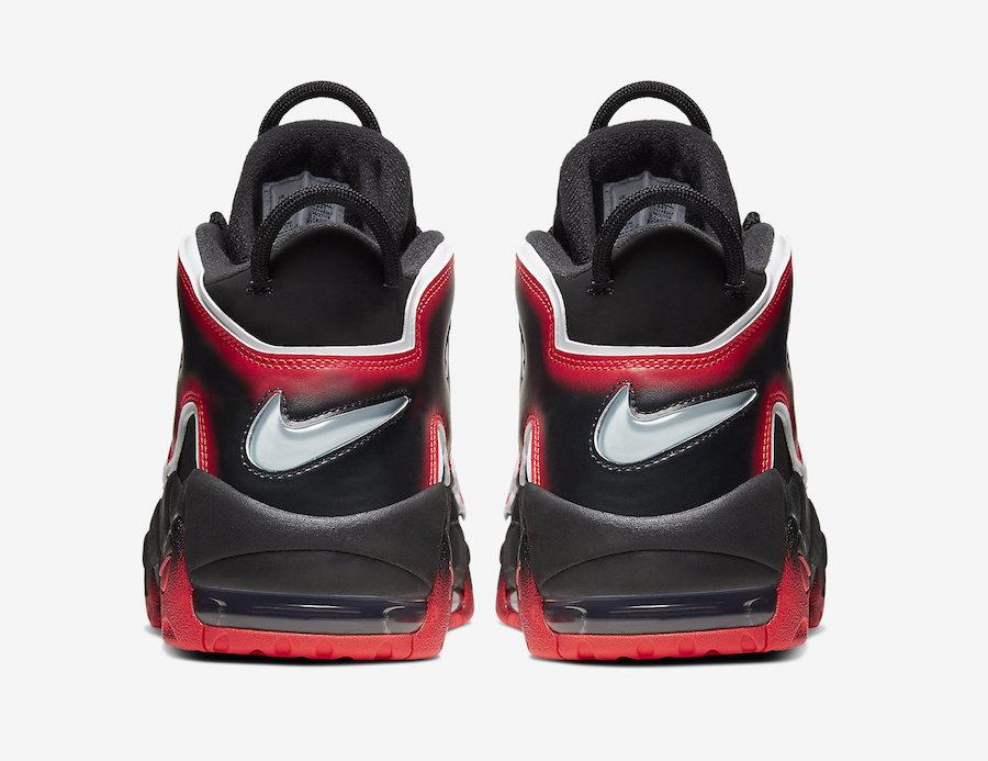 Nike Air More Uptempo Black Laser Crimson CJ6129-001 Release Date