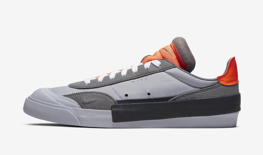 Nike Drop Type LX Wolf Grey Total Orange AV6697-002 Release Date Info