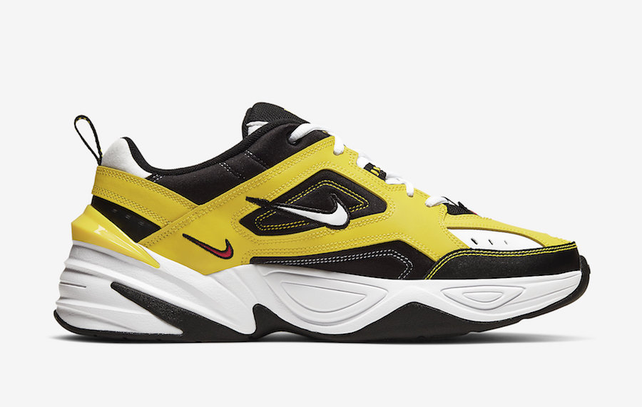 Nike M2K Tekno Yellow Black White AV4789-700 Release Date Info