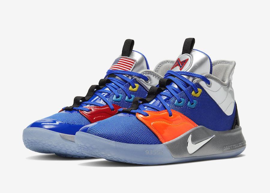 Nike PG 3 NASA Blue CI2667-400 Release Date