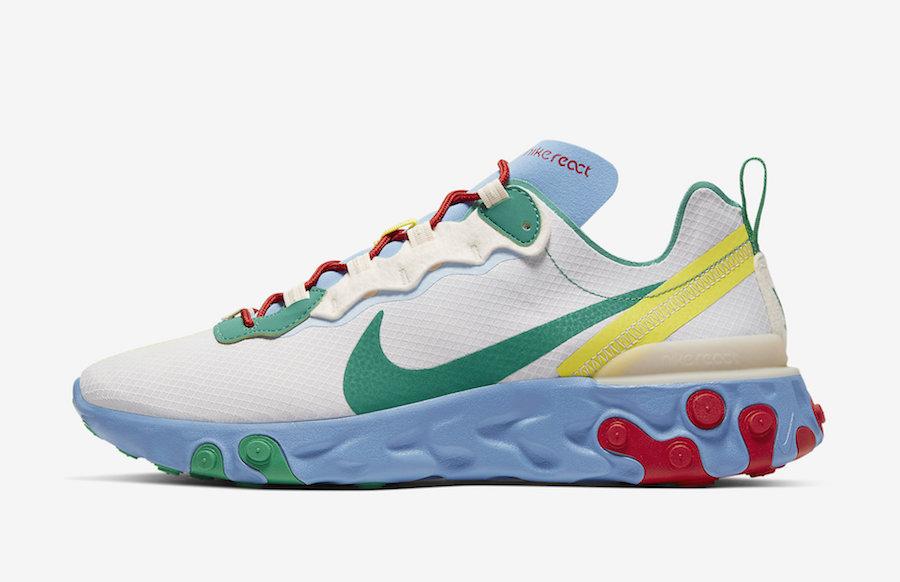 Nike React Element 55 SE Guava Ice Lucid Green CT1142-800 Release Date Info