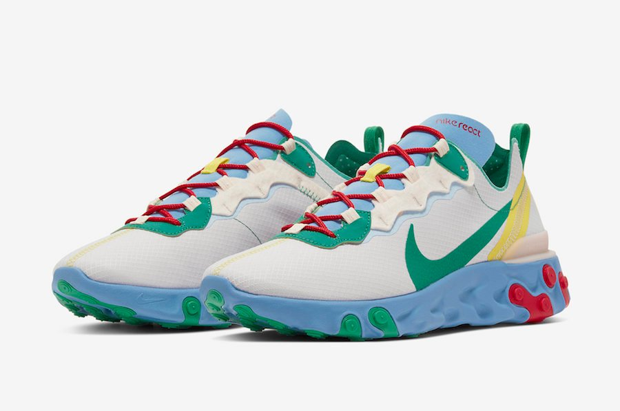 Nike React Element 55 SE Guava Ice Lucid Green CT1142-800 Release Date Info | SneakerFiles