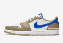 Nike SB Air Jordan 1 Low Desert Ore Royal Blue Dark Powder Blue Release Date Info