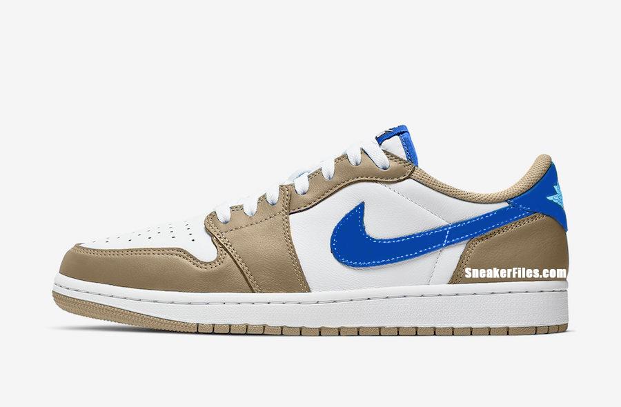 Nike SB Air Jordan 1 Low Desert Ore Royal Blue Dark Powder Blue Release Date Info