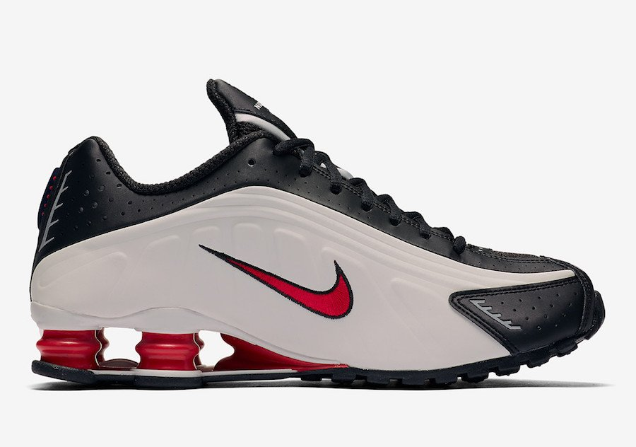 Nike Shox R4 Platinum Tint University Red Black 104265-050 Release Date Info