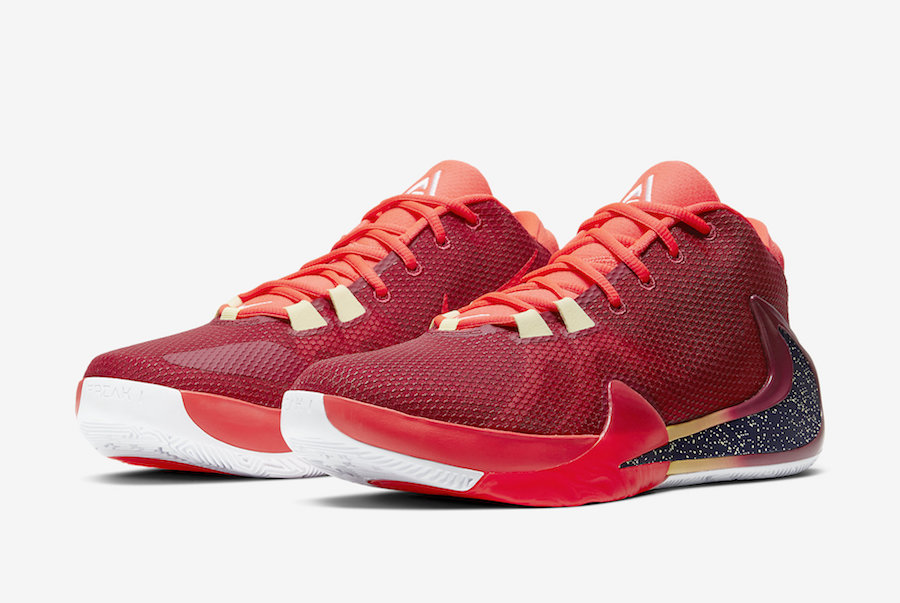 Nike Zoom Freak 1 All Bros Noble Red Opening Night BQ5422-600 Release Date Info | SneakerFiles