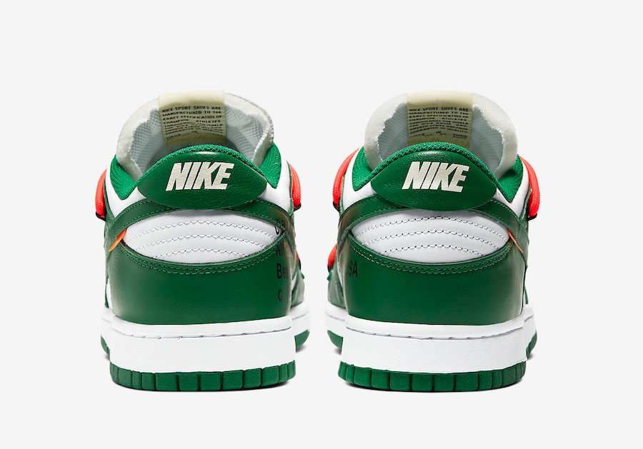 Off-White Nike Dunk Low White Green CT0856-100 Release Date Info
