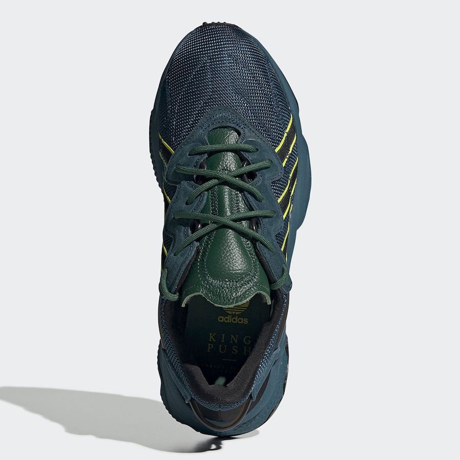 Pusha T adidas Ozweego King Push Blue Green FV2480 Release Date Info