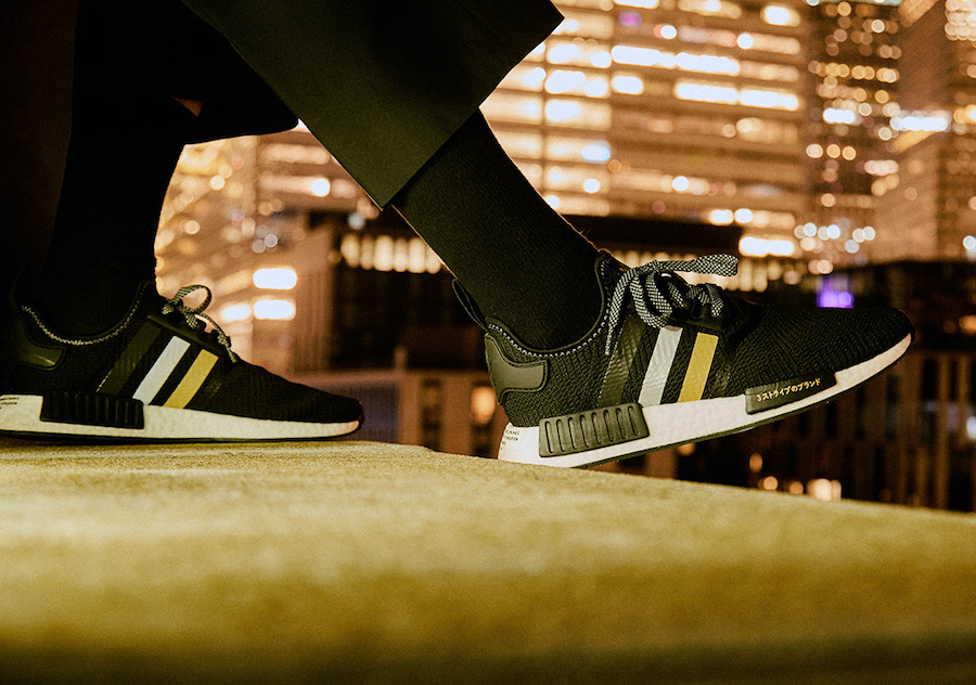 Shoe Palace adidas NMD R1 Black Gold EH2749 Release Date Info