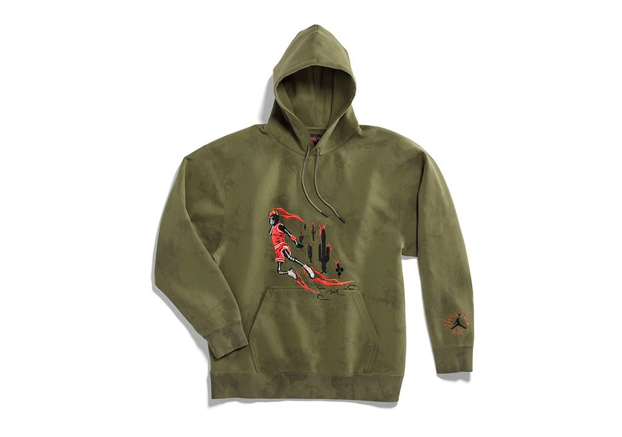 Travis Scott Air Jordan Washed Suede Hoody Olive