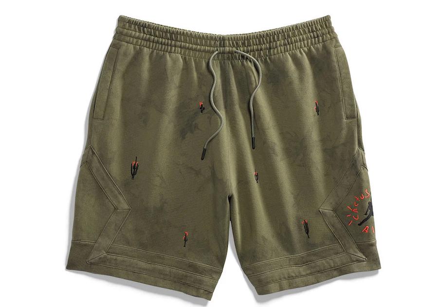 Travis Scott Air Jordan Washed Suede Short Olive