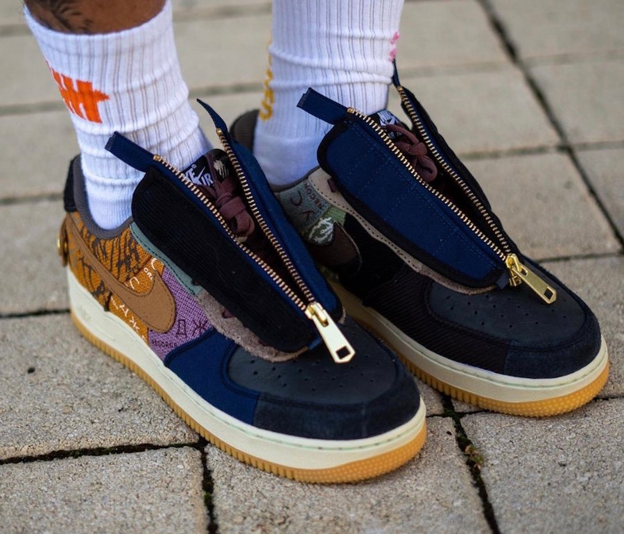 Travis Scott Nike Air Force 1 Low CN2405-900 On Feet