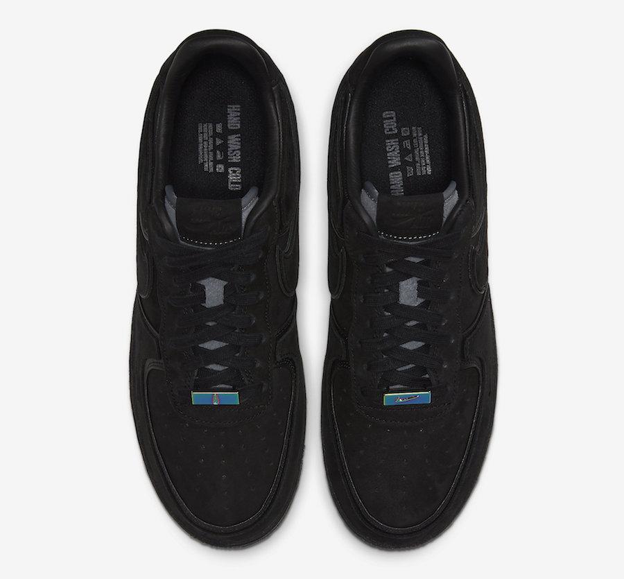 A Ma Maniere Nike Air Force 1 Black Hand Wash Cold CQ1087-002 Release