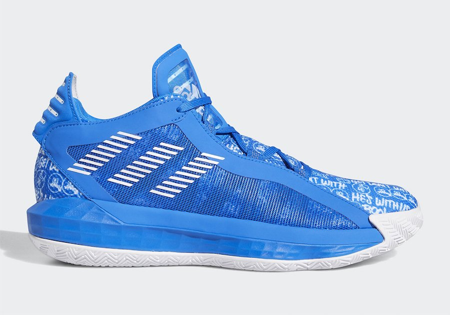 adidas Dame 6 Hecklers Blue FU6809 Release Date Info