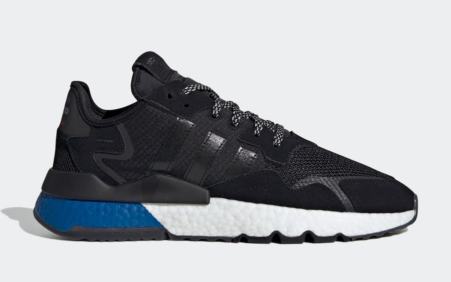 adidas Nite Jogger Core Black Lush Blue FW5331 Release Date Info