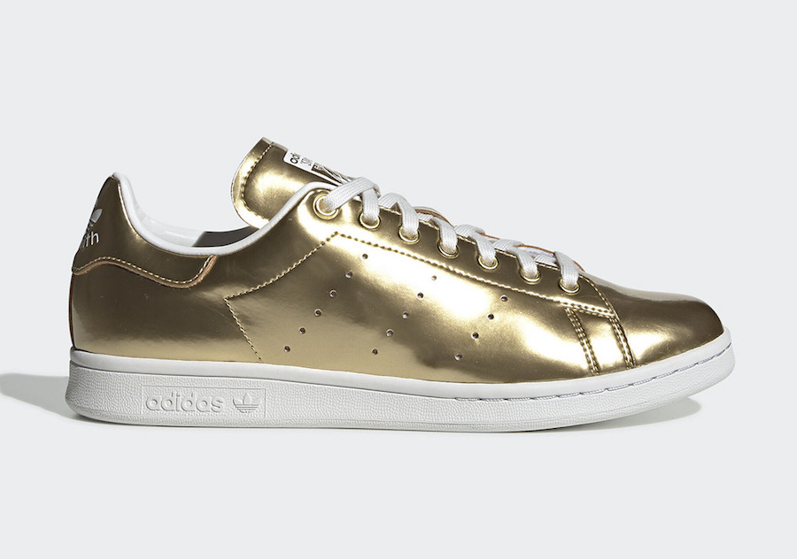 adidas Stan Smith Liquid Gold Metal FV4298 Release Date Info