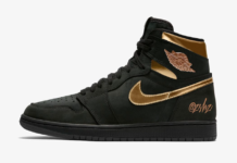 Air Jordan 1 Black Metallic Gold 555088-032 Release Date Info