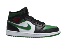 Air Jordan 1 Mid Black Green White Red 554724-067 Release Date Info