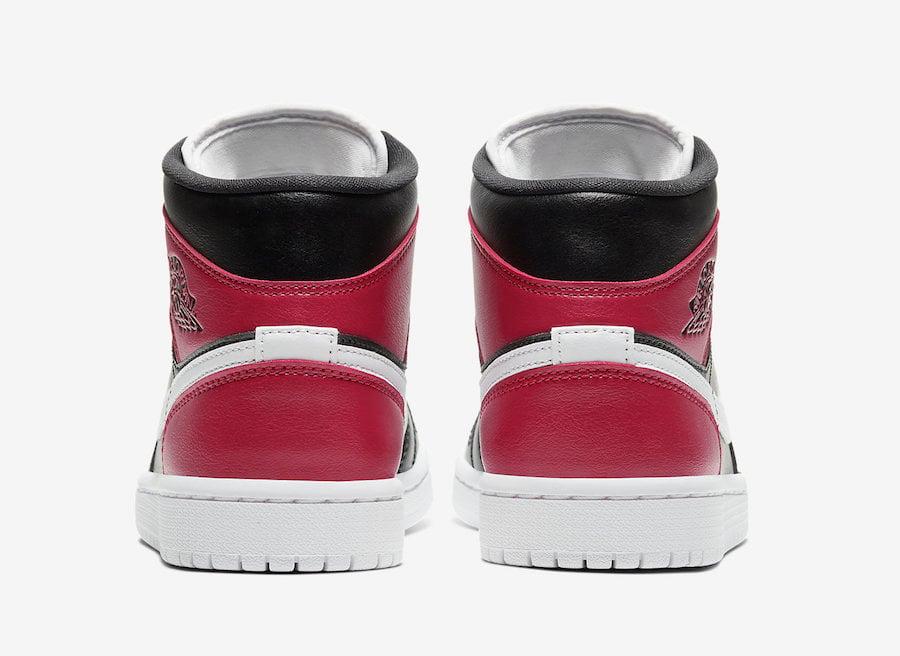 Air Jordan 1 Mid WMNS Black White Noble Red BQ6472-016 Release Date Info