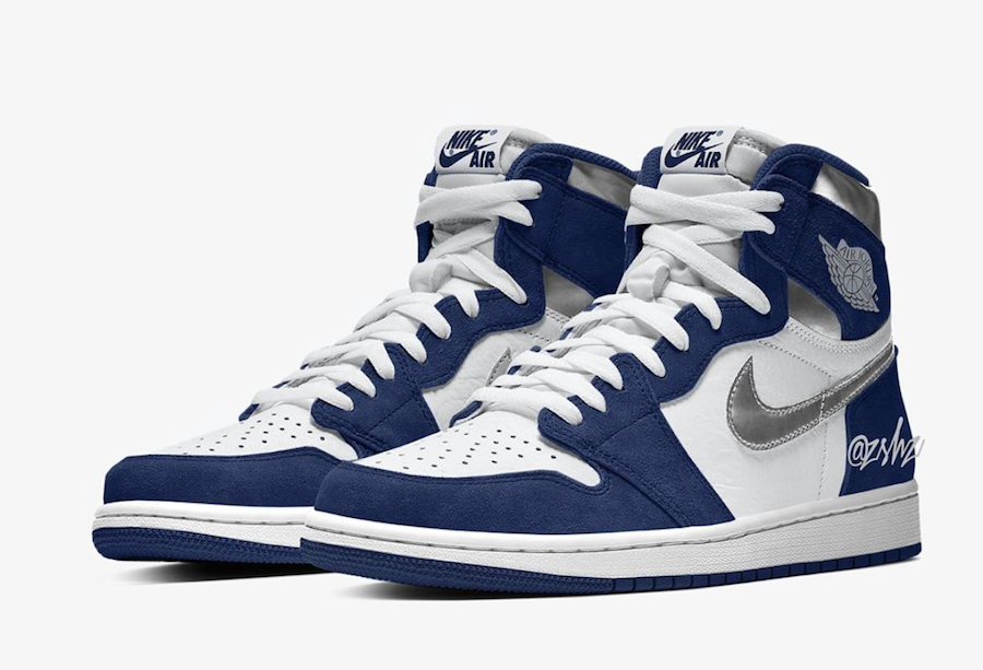 Air Jordan 1 Midnight Navy Metallic Silver 2020 Release Date
