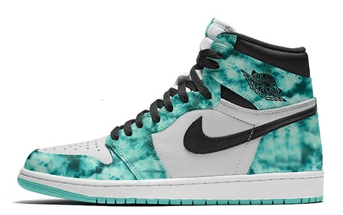 Air Jordan 1 Tie-Dye White Black Aurora Green Release Date