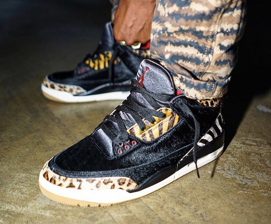 Air Jordan 3 Animal CK4344-002 On Feet