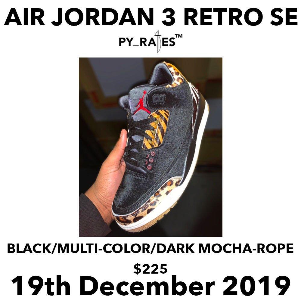 Air Jordan 3 SE Animal 2019 Release Date