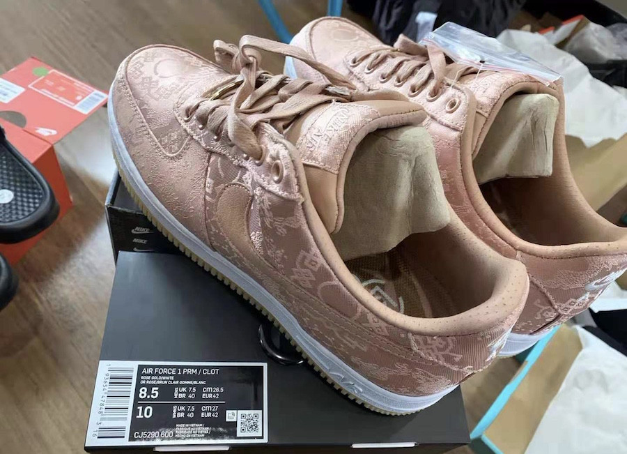 A Clot x Nike Air Force 1 in Rose Gold Just Surfaced